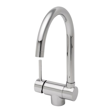 Origami Mono Sink Mixer With Fold Down Spout, Chrome Plated