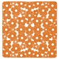 Gedy Margherita Non-Slip Shower Mat - Zesty Orange
