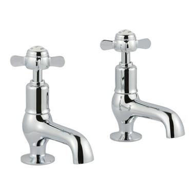 Butler & Rose Caledonia Pinch Cloakroom Basin Pillar Taps - Chrome