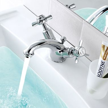 Butler & Rose Caledonia Dual Pinch Handle Basin Mixer with Pop-up Waste