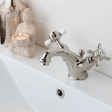 Butler & Rose Caledonia Pinch Mono Basin Mixer with Pop-up Waste - Nickel