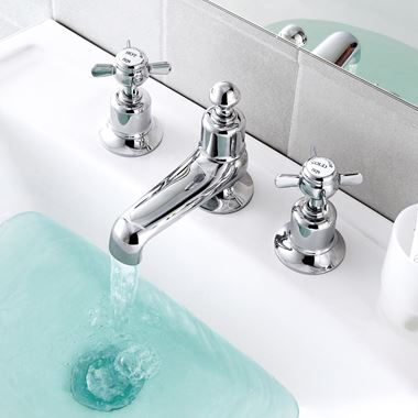 Butler & Rose Caledonia Pinch 3 Hole Long Nose Basin Mixer