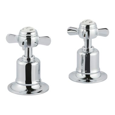 Butler & Rose Caledonia Pinch Deck Mounted Panel Valves - Chrome