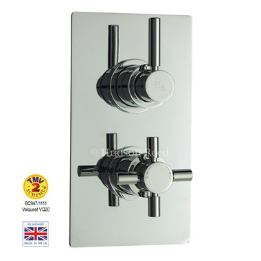 Hudson Reed Tec Pura Twin Concealed Thermostatic Shower Valve