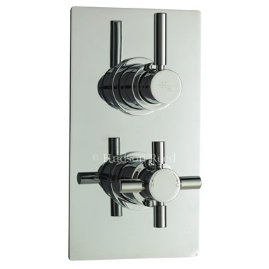 Hudson Reed Tec Pura Twin Concealed Thermostatic Shower Valve & Diverter