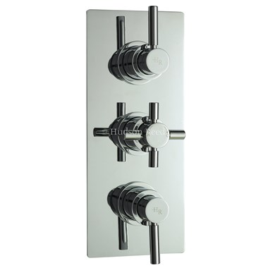 Hudson Reed Tec Pura Plus Triple Concealed Thermostatic Shower Valve & Diverter
