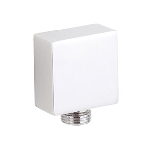 Premier Modern Square Chrome-Plated Solid Brass Outlet Elbow