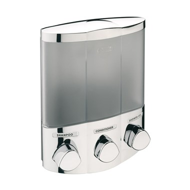 Sagittarius 3 Section Corner Soap Dispenser