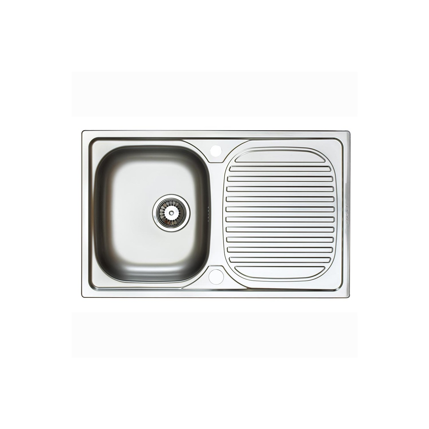 Astracast aegean compact single bowl polished stainless steel sink with reversible drainer 800 x 500mm tap warehouse