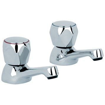 Mayfair Alpha Bath Pillar Taps (Pair)