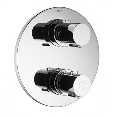 Flova Allore Single Outlet Concealed Thermostatic Shower Valve with Easyfit SmartBOX
