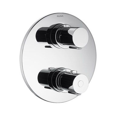 Flova Allore 2 Outlet Concealed Thermostatic Shower Valve with Easyfit SmartBOX