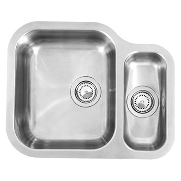 Reginox Alaska 1.5 Bowl Stainless Steel Undermount Kitchen Sink & Waste - Left Hand