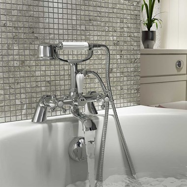 Butler & Rose Carlton Deck Mounted Bath Shower Mixer with Handset Kit