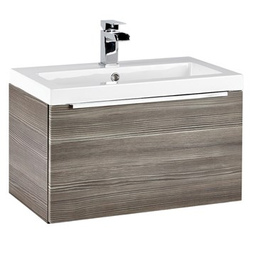 Harbour Alchemy 600mm Wall Hung Vanity Unit & Basin - Avola Grey