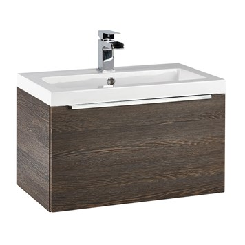 Harbour Alchemy 600mm Wall Hung Vanity Unit & Basin - Dark Oak