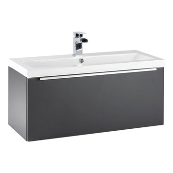 Harbour Alchemy 800mm Wall Hung Vanity Unit & Basin - Anthracite Grey