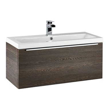 Harbour Alchemy 800mm Wall Hung Vanity Unit & Basin - Dark Oak