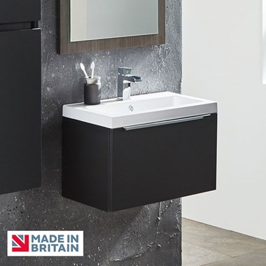 Harbour Alchemy 500mm Wall Hung Vanity Unit & Basin - Anthracite Grey