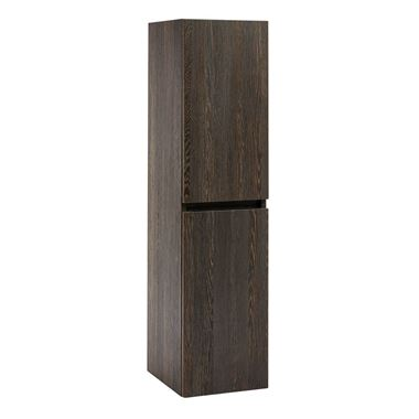 Harbour Alchemy 1200mm Tall Wall Mounted Cabinet - Dark Oak