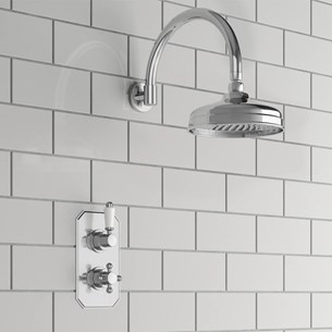 Aldra Traditional Concealed Shower Valve & Fixed Shower Head