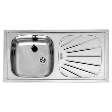 e9aee443e6 Reginox Alpha 10 Reversible Single Bowl Stainless Steel Inset Sink & Waste  - 860 x 435mm