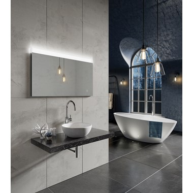HIB Alpine 100 Steam Free LED Illuminated Mirror - 600 x 1000mm