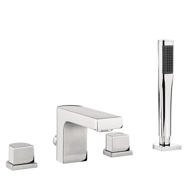 Proflow Altera 4 Hole Bath Shower Mixer Tap