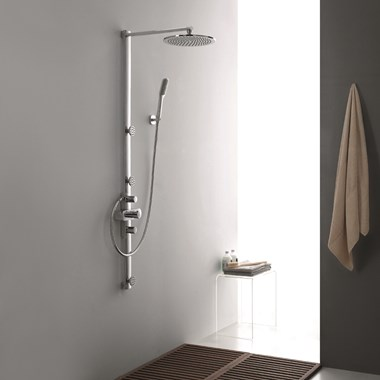 Flova Allore Thermostatic Shower Column With Hand-Shower, Triple Body Sprays & Rain-Shower