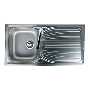 Astracast Alto 1 Bowl Sink With Chrome Waste - Satin Polish