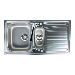 Astracast Alto 1.5 Bowl Sink With Chrome Wastes & Pipework - Satin Polish
