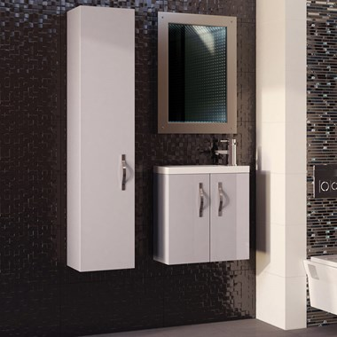 Apollo Compact 300mm Wall Hung Tall Unit - Cashmere