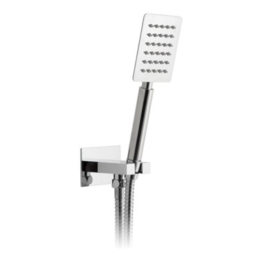 Vado Aquablade Square Mini Shower Kit With Integrated Outlet And Bracket
