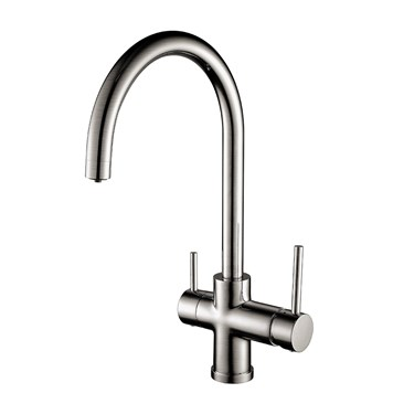 Clearwater Aquarius Mono Kitchen Mixer with Swivel Spout and Cold Filtered Water - Stainless Steel