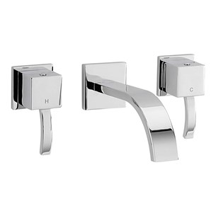 Sagittarius Arke 3 Hole Wall Mounted Basin Mixer