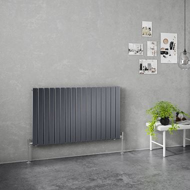 Brenton Flat Double Panel Horizontal Radiator - 635mm x 1020mm - Anthracite