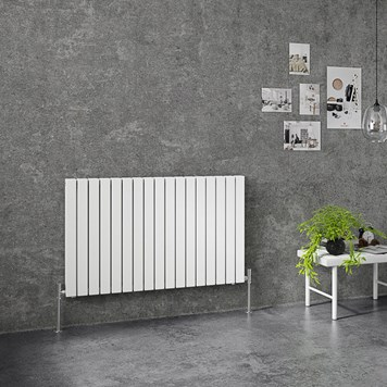 Brenton Flat Double Panel Horizontal Radiator - 635mm x 1020mm - White