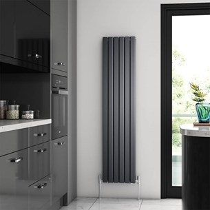 Brenton Flat Double Panel Vertical Radiator - 1600mm x 360mm - Anthracite