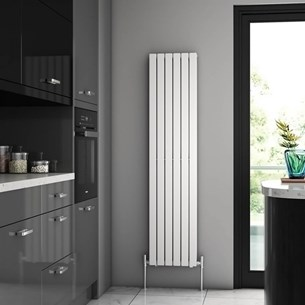 Brenton Flat Double Panel Vertical Radiator - 1600mm x 360mm - White