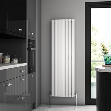 Brenton Flat Double Panel Vertical Radiator - 1600mm x 480mm - White