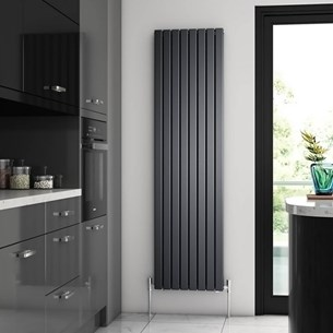 Brenton Flat Double Panel Vertical Radiator - 1800mm x 480mm - Anthracite