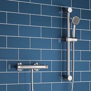 Aran Thermostatic Bar Shower Valve & Slide Rail Kit