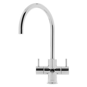 Caple Ardor Puriti Triple Lever Mono Kitchen Mixer & Cold Filtered Water Tap - Chrome