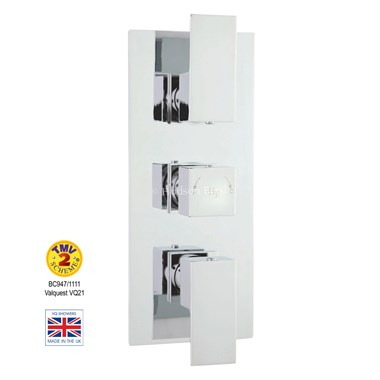 Hudson Reed Art Triple Concealed Thermostatic Shower Valve