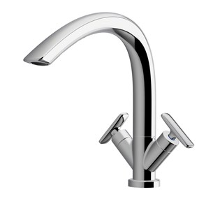 Arwa Curveprime Twin Lever Mono Sink Mixer With Swivel Spout