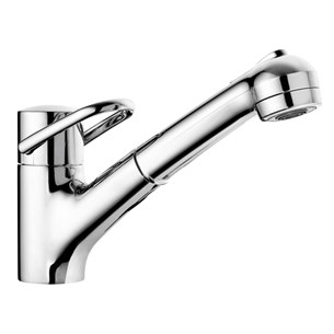 Arwa Class Single Lever Mono Sink Mixer With Pull Out Swivel Spout