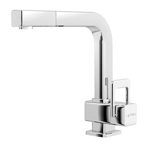 Arwa Quadriga Single Lever Mono Sink Mixer With Swivel Spout & Pull Out Rinse