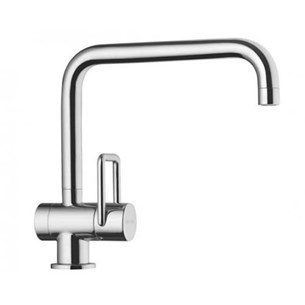 Arwa Twin Single Lever Mono Sink Mixer with Swivel Spout - Stainless Steel