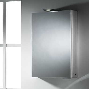 Roper Rhodes Fever LED Illuminated Single Mirror Glass Door Cabinet