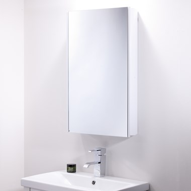 Roper Rhodes Limit White Single Mirror Glass Door Cabinet